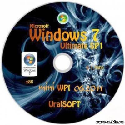 Windows 7 x86 UralSOFT+ mini WPI v.2.06